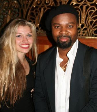 Tessa Ditner with Ben Okri at his reading for Bookslam
