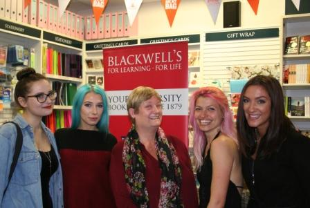With Diana Bretherick & the girls at her book launch at Blackwell's