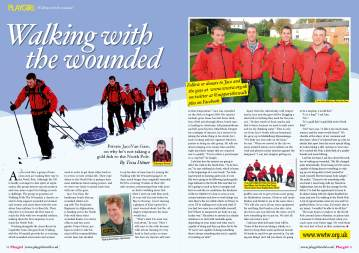 Walking with the Wounded for Playgirl Magazine UK