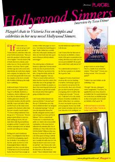 Playgirl Magazine UK, Interview with Victoria Fox