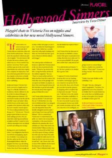 Playgirl Magazine UK, Interview with Victoria Fox
