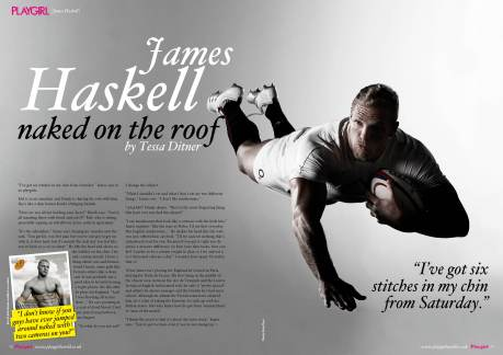 Playgirl Magazine UK, interview with James Haskell and the Playgirls