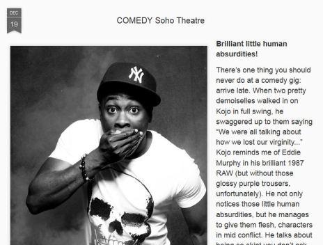CultureKiddo, stand up comedy review