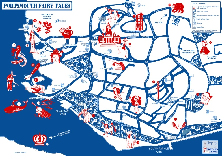 Portsmouth Fairy Tales Promenade Performance map by Port & Lemon