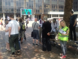 Portsmouth Fairy Tales Promenade, supported by Arts Council England - start of the promenade