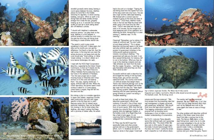 Sports Diving Magazing Australia - Coral Conservation