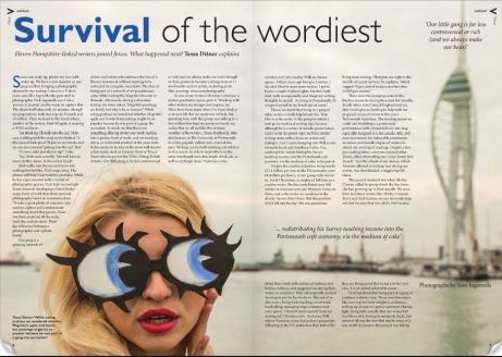 View Magazine UK feature about writing