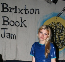 Brixton Bookjam performing some writing