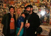 Brixton Bookjam, Tessa Ditner with writers Dave McGowan and Marianne Hyatt