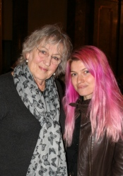 With Germaine Greer