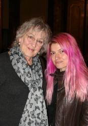 With Germaine Greer