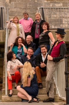 Tessa Ditner w the Portsmouth Fairy Tales writers pic by Nick Ingamells