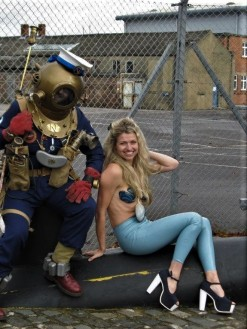 Subaquatic Steampunk Weekend performance, pic by fellow writer Helen Salsbury