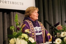2012 Writer, comedian and broadcaster Sandi Toksvig is installed as Chancellor of the University of Portsmouth.